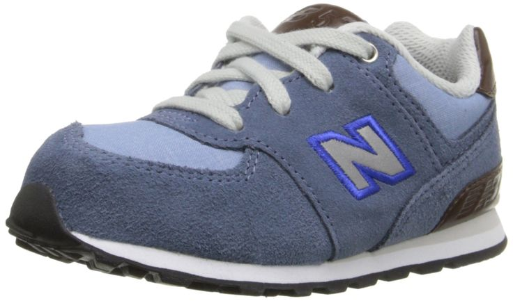 New Balance KL574 Beach Cruiser Classic Running Shoe (Infant/Toddler), Blue/Blue, 5.5 M US Toddler. Ethylene vinyl acetate midsole and heel. Thermoplastic polyurethane heel clip for added support. Non-marking outsole.