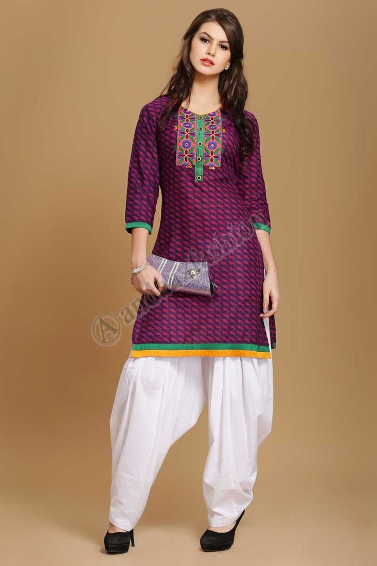 embroiderey coton de style indien Kurti Design No. 4012 Prix- 17,60 € Coton doux imprime kurti avec Resham embroiderey. @http://www.andaazfashion.fr/womens/kurti-tunic/shop-indian-style-tunics-for-women.html