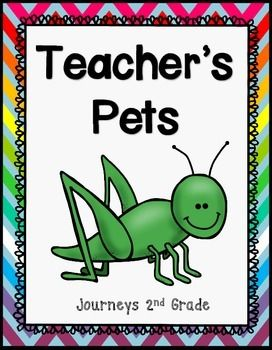 Teacher's Pets Journeys 2nd Grade Reading Centers, Worksheets, and Booklets