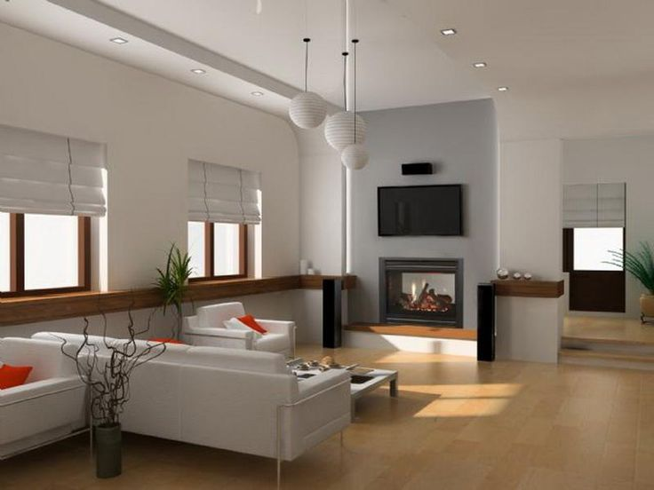 Modern Gas Fireplace In Living Room ~ http://lanewstalk.com/simple-and-decorative-modern-gas-fireplace/