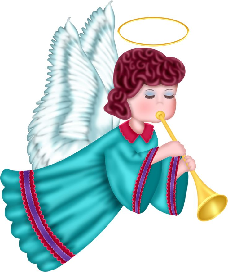 Cute angel with blue robe free png clipart picture angel