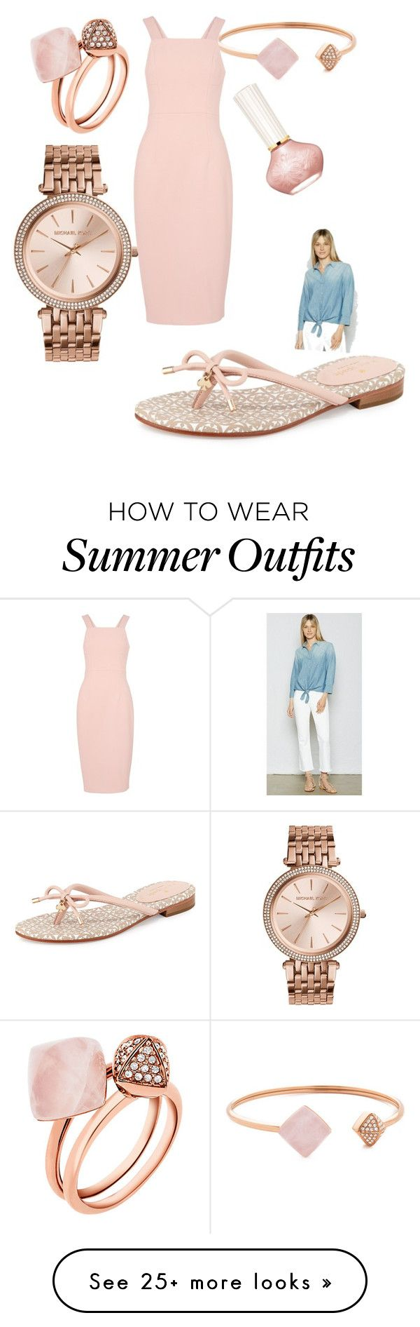 """Summer BBQ Outfit"" by emily-louise-webberley on Polyvore featuring Current/Elliott, Michael Kors, MICHAEL Michael Kors, Paul & Joe Beaute, Kate Spade and Whistles"