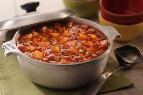 Chef David Vaughn's Idaho® Potato Veggie  Chili. #meatlessmonday #vegetarian