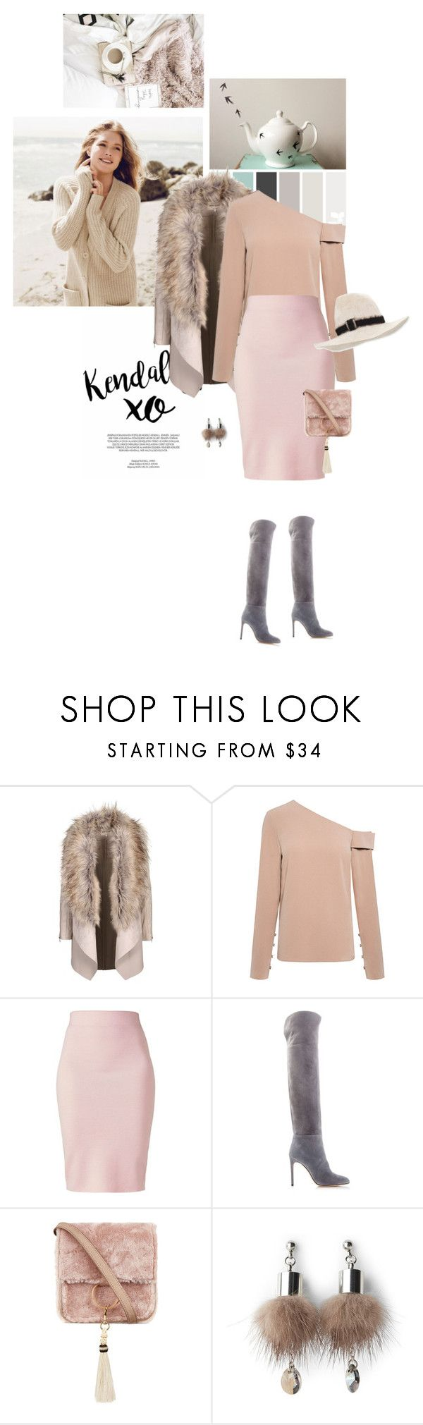 """Untitled #846"" by girl-with-ideas ❤ liked on Polyvore featuring xO Design, Repeat Cashmere, TIBI, Winser London, Sergio Rossi, Brother Vellies, Simons and Gigi Burris Millinery"