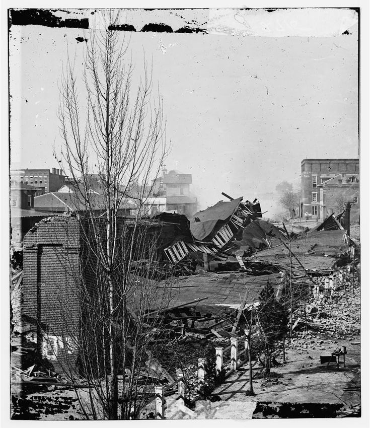 Ruins of Depot, Blown up on Sherman's Departure - Atlanta GA, 1864Civil Wars, Atlanta History, Military History, American History, Georgia History, American Civil, Training Depot, Atlanta 1864, Sherman Departure