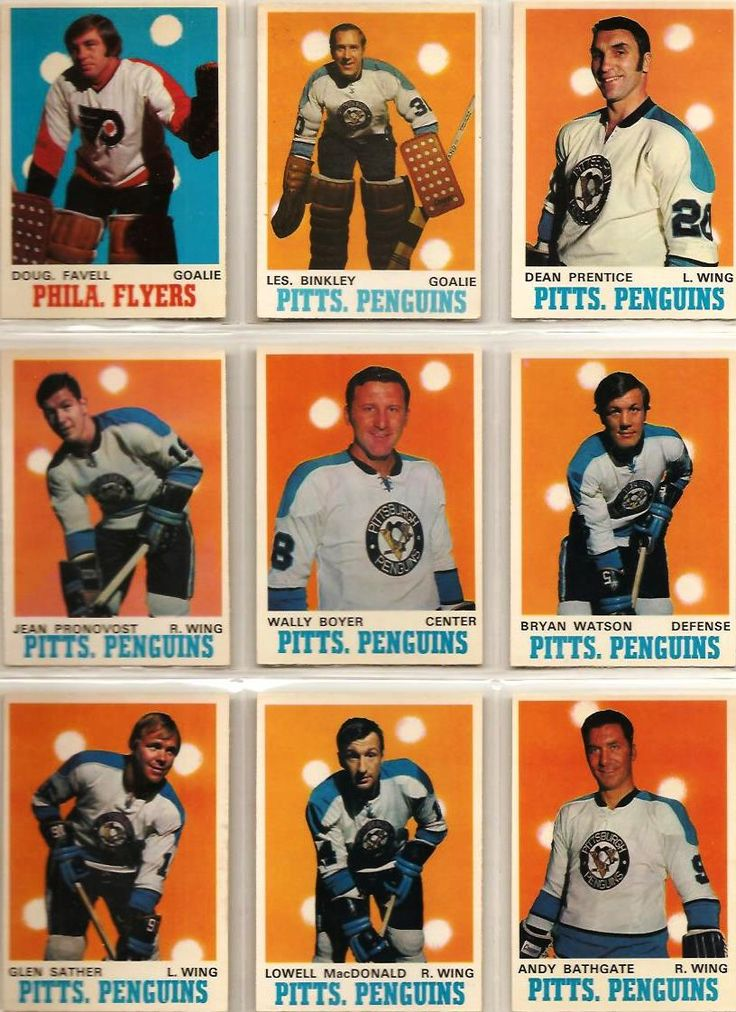 199-207 Doug Favell, Les Binkley, Dean Prentice, Jean Pronovost, Wally Boyer…
