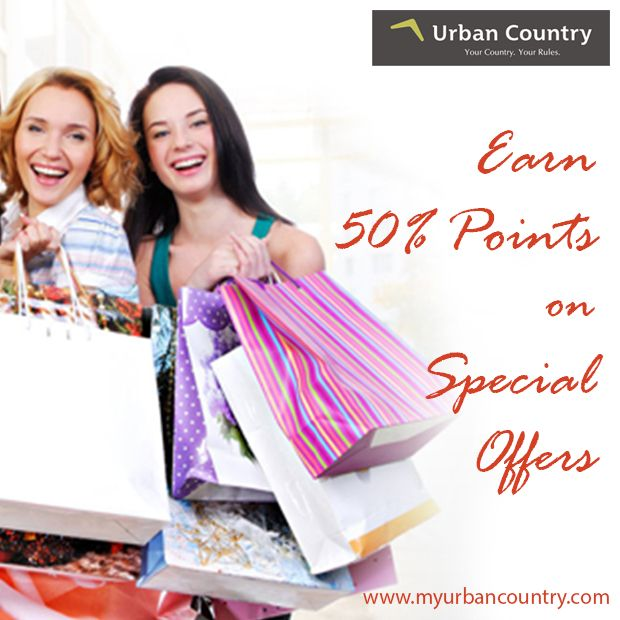 Check out our ‪#SpecialOffers‬ to see how you can earn points faster. Give yourself the getaway with Urban Country. Register today! http://bit.ly/1QbEP4W