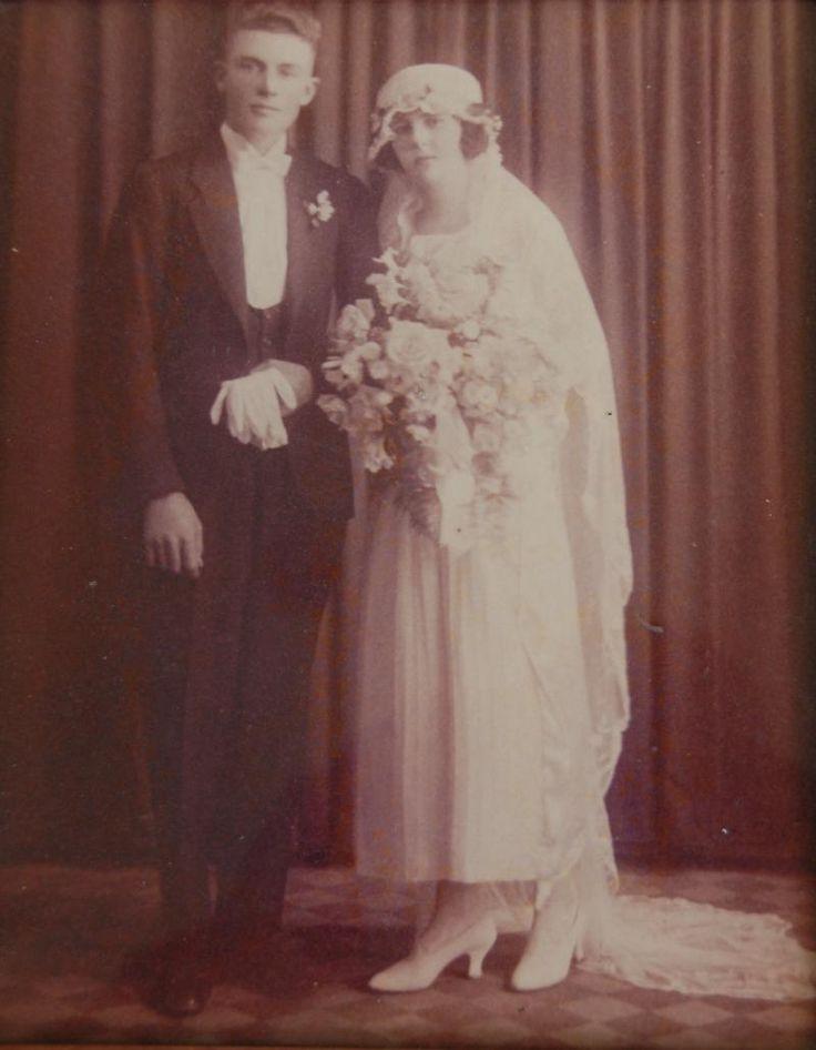 Norman Taunton Walker Croucher and Doris May Christensen on their wedding day