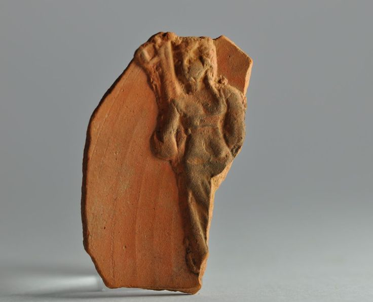 African red slip ware sherd with damnatio ad bestias 2