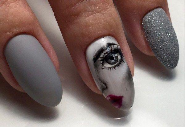 Тренд маникюра 20120-2021– eye see you: модный маникюр с лицами и глазами, фото-идеи и новинки