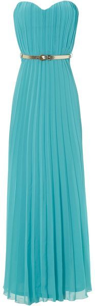 JANE NORMAN ENGLAND Pleated Belted Maxi - Lyst