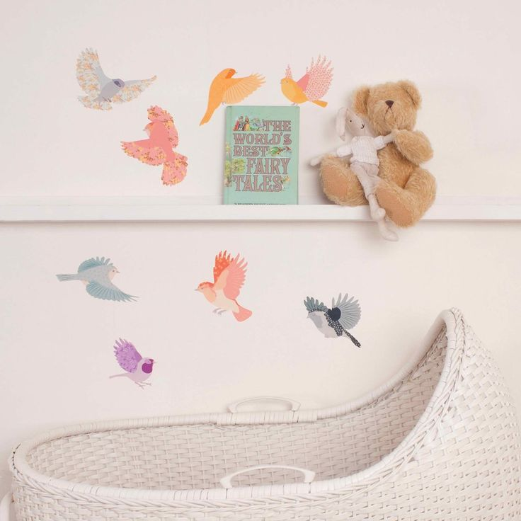 Small Flying Twitter Decals - Girly