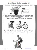 SETTING UP A SPIN BIKE. HOW DO I SET UP A SPIN BIKE? There are a couple of different methods of spin bike set up. To keep it simple we will provide you with a quick express set up, followed by a more comprehensive step by step procedure. A thorough bike set up is available in our online level 1 course Go to Cycle excel level 1 Online Cy...