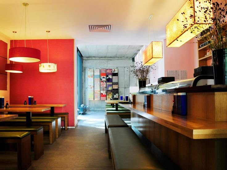 Kuchi Japanese Sushi & Ramen (next door) in Mitte. Stylish decor and very authentic cuisine. (Japanese restaurant- Mitte)