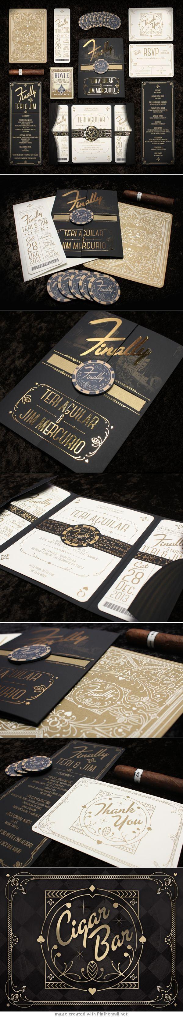 Mercurio Wedding Invitations - Anthony Gregg via Behance #wbd