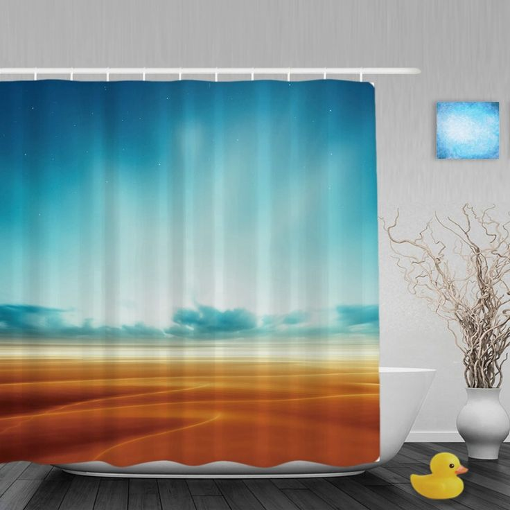 Beautiful Nature Landscape Shower Cutains Blue Sky Desert Decor Bathroom Shower Curtains Polyester Waterproof Fabric With Hooks #Affiliate