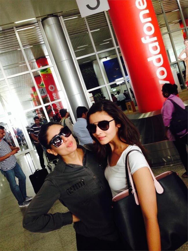 Kareena Kapoor Khan with Alia Bhatt. #Style #Bollywood #Fashion #Beauty