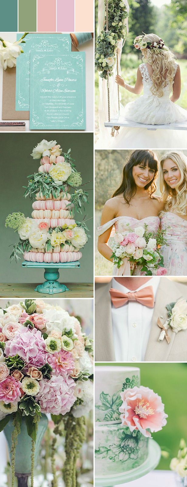 pink and green summer garden wedding ideas