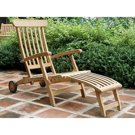 teak wheeled steamer chair next day delivery teak wheeled steamer chair from worldstores everything - Garden Furniture Next Day Delivery