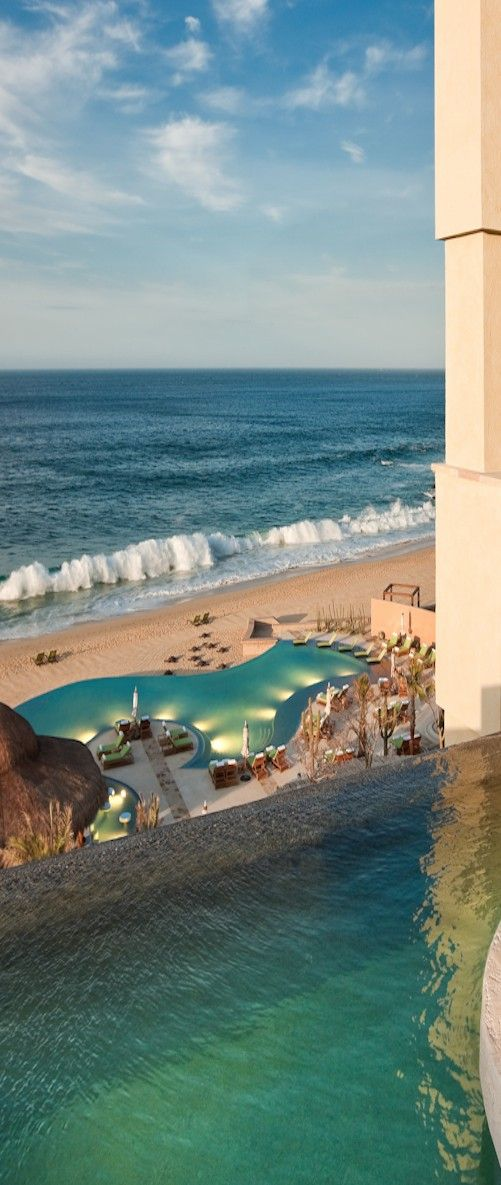 The Resort at Pedregal is built into the side of a mountain #Mexico #Travel…