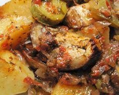 Νηστίσιμη συνταγή Αγίου όρους: κολοκυθάκια με πατάτες στον φούρνο (μπριάμ) ~ InKomotini