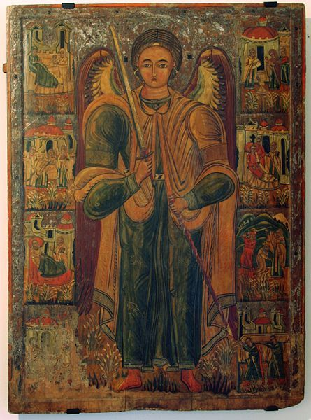 Michael (archangel) - an icon, Historic Museum in Sanok, Poland. 16th century