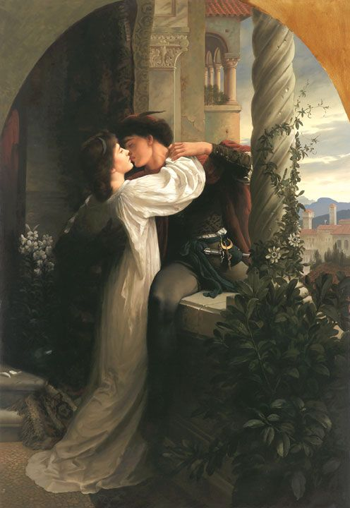 Romeo and Juliet by Sir Frank Dicksee. Besides Helen of Troy and Paris, this couple are the all time greatest icons of innocent, selfless and true passion. Too young to stop social mores getting in the way...
