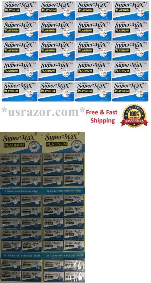 Mens Razors: 1000 Super Max Double Edge Platinum Blades Fits Gillette Schick Razor Uk Barber -> BUY IT NOW ONLY: $49.99 on eBay!