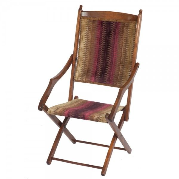 Stylish Edwardian Folding Campaign Chair   The Unique Seat Company