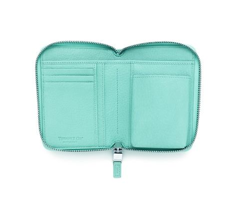 Tiffany & Co. | Item | Tiffany smart zip wallet in Tiffany Blue® grain leather. More colors available. | United States