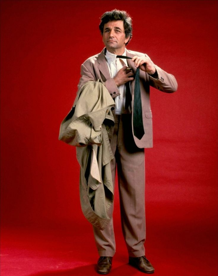The eternally unforgettable Peter Falk as TV's wry Police Detective, Columbo.