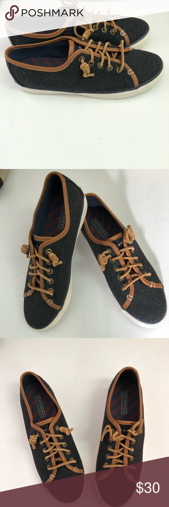 """Sperry Top-Sider """"Seacoast""""  Boat Shoes Black 9.5M Brand new without box with original tags and price/size markings at the bottom. A very stylish canvas  sneaker for your every day wear. Sperry Top-Sider Shoes Sneakers"""