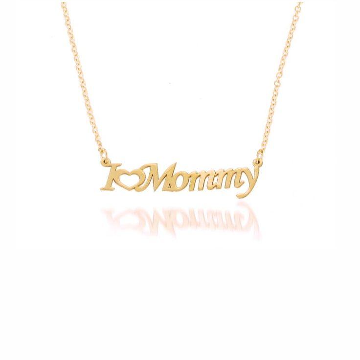 """Με αγάπη για τη μαμά ένα κολιέ ροζ χρυσό Κ9 με τη φράση """"I Love Mommy"""" με καρδιά   Δώρα για μαμάδες στο κοσμηματοπωλείο ΤΣΑΛΔΑΡΗΣ στο Χαλάνδρι #mommy #μαμά #όνομα #κολιέ"""