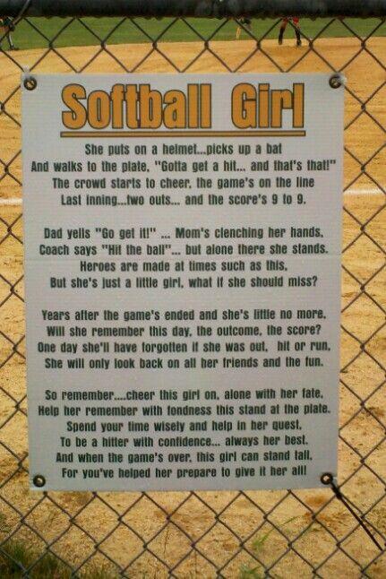 Softball poem   Jonessa's Page   Pinterest