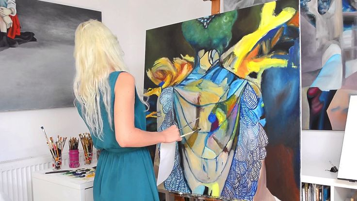 """Step by step, speed oil painting of """"Burning up the way"""" artwork by Oana..."""