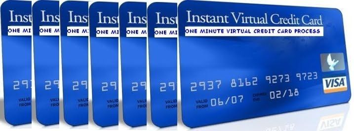 In the regards to Virtual credit card, You receive two types of cards whenever you make application for a Virtual card -- A virtual MasterCard and virtual visa cards.
