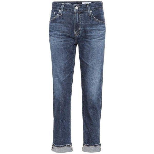 AG Jeans Ex-Boyfriend Jeans (5,085 MXN) ❤ liked on Polyvore featuring jeans, blue, blue jeans, boyfriend fit jeans, ag adriano goldschmied, boyfriend jeans and ag+adriano+goldschmied jeans