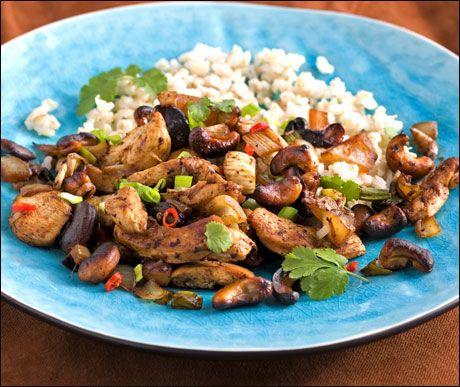 Kylling med cashewnøtter - Gai Pad Med Mamaoung
