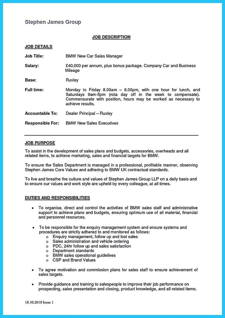 nice writing a clear auto sales resume auto sales resume