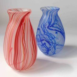 NZ Gifts : Hand blown glass vase, contemporary design