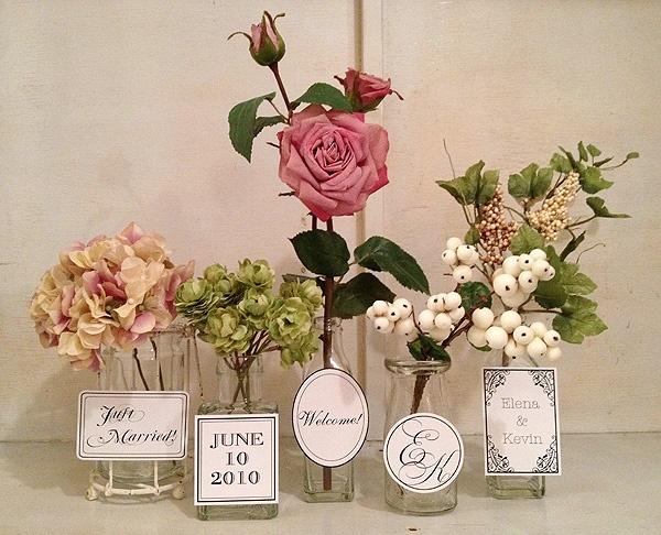 display かわいいお花たちでお出迎え