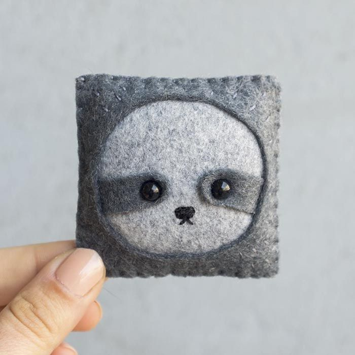 Artist Felts 100 Cute Faces For 100 Straight Days