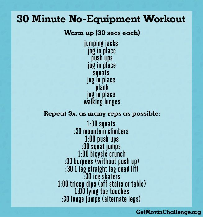 30 Minute No-Equipment Workout | www.GetMovinChallenge.org #COgetmovin
