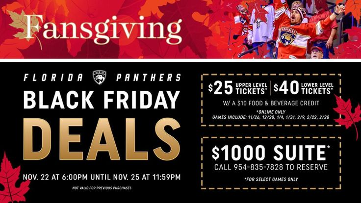 Florida Panthers Announce Black Friday Ticket Special
