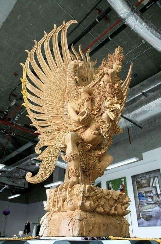 Bhagwan Vishnu Riding Garuda Bali Indonesia Hindu