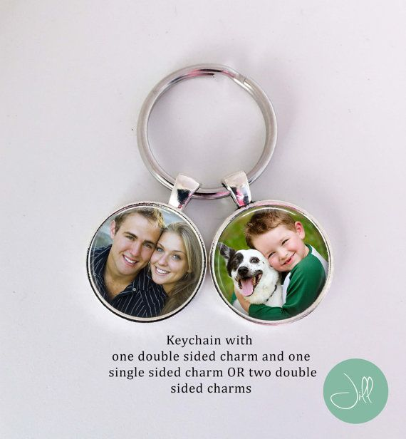 PHOTO KEYCHAIN  3 or 4 photo Keychain  Design by NowThatsPersonal