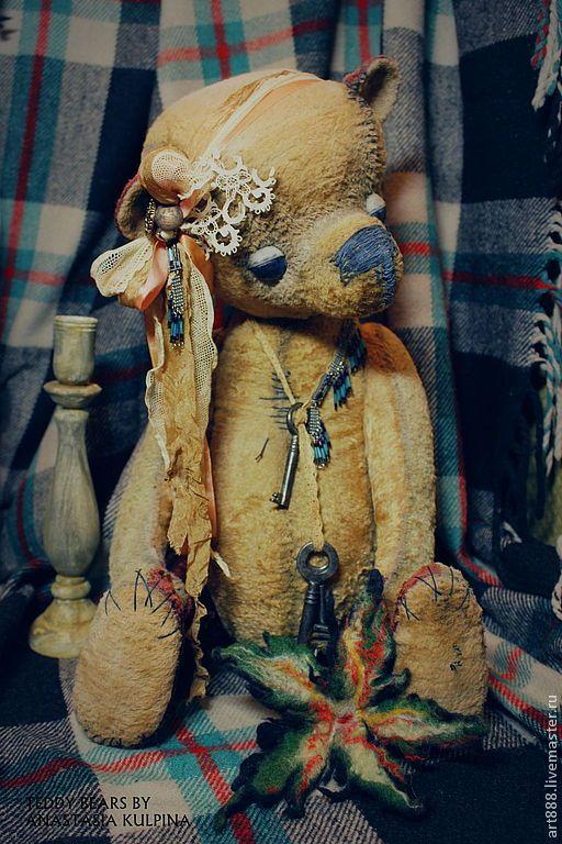 Купить плюшевый медведь Мадам Дади. - бежевый, мишка тедди, медведь тедди, тортюр