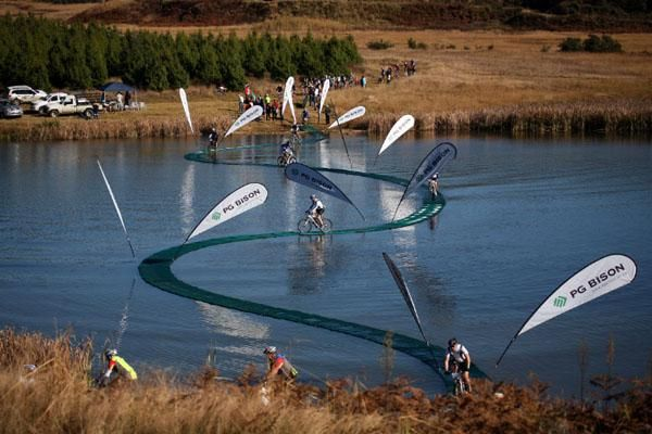 This is nuts.  Sani2C mountain bike race, S. Africa.