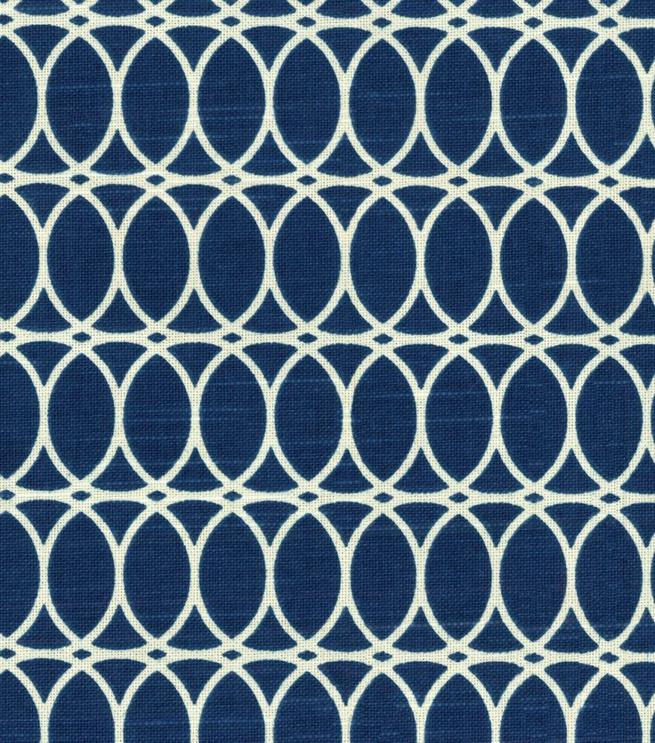 HGTV HOME Home Decor Print Fabric  Curl Up Lapis