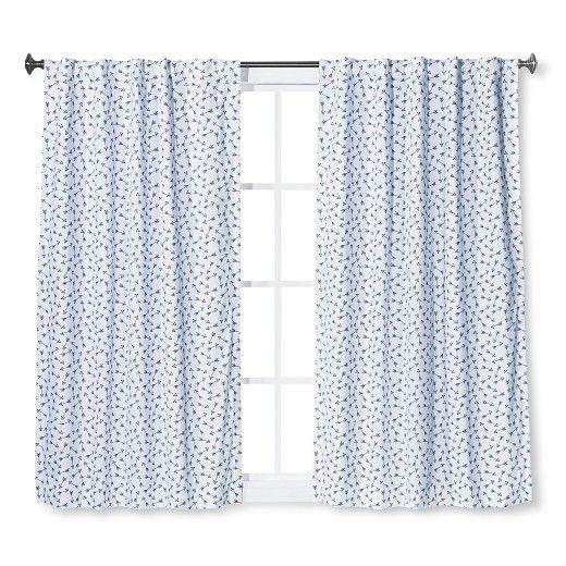 Twill Light Blocking Curtain Panel Arrow Print Blue - Pillowfort™ : Target